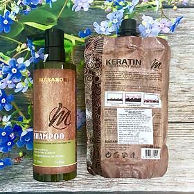 Combo gội ủ Collagen Keratin MASARONI siêu mượt cho tóc khô hư tổn 500ml-1