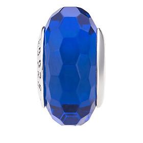 Hình đại diện sản phẩm Hạt charm DIY PNJSilver hình dẹt tròn màu xanh 14346.000-BO