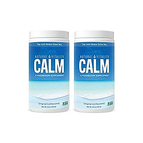 Natural Vitality Natural Magnesium Calm (2 Bottles of 16 Ounce) - Plain, Plain