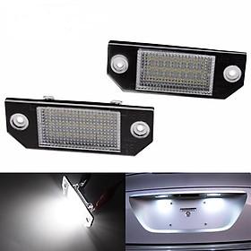 2 Pcs LED License Plate Lamp 12V White Light Fit for Ford Focus C-MAX MK2