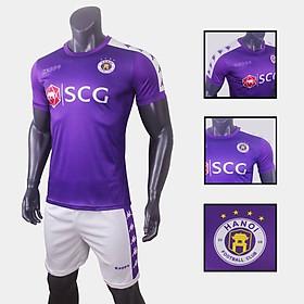 Bộ quần áo đá bóng quấn áo thể thao nam đội CLB Hà Nội 2019 màu tím