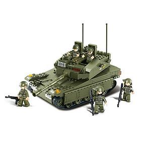 Bộ Lắp Ráp Xe Tăng Chiến Đấu Merkava SLUBAN 0305 - 344 Chi Tiết