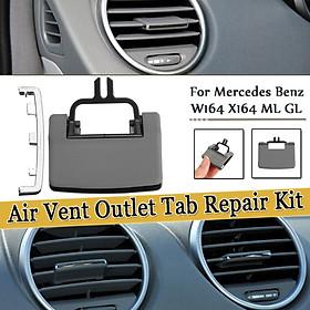 A/C Air Vent Outlet Tab Clip Repair Kit For Mercedes Benz W164 X164 ML GL Grey