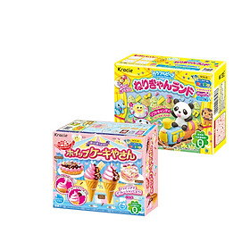 Combo 2 hộp kẹo Popin Cookin đồ chơi ăn được gồm: Kem Chocolate + Thế Giới Diệu Kỳ