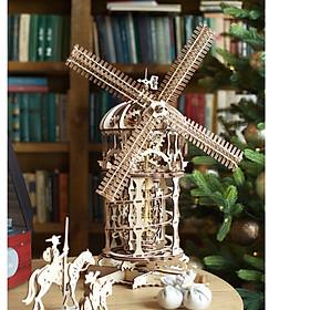 Mô Hình Gỗ Cơ Khí -  Ugears Tower Windmill - Cối xay gió, sản phẩm chính hãng UGEARS, nhập khẩu nguyên bộ từ EU, mô hình lắp ráp 3D, DYI