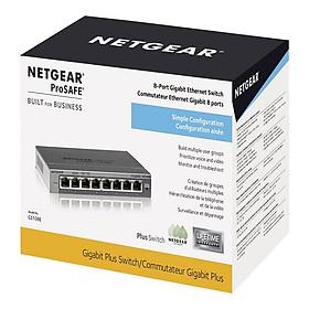 Bộ Chia Mạng Để Bàn 8 Cổng 10/100/1000M Gigabit Ethernet Smart Switch Netgear GS108E - Hàng Chính Hãng