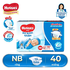 Tã Dán Sơ Sinh Huggies NB40 - Dưới 5kg (40 Miếng)