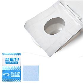 Túi 10 miếng giấy lót vệ sinh dùng một lần không thấm nước nhỏ gọn tiện dụng phù hợp với mọi lứa tuổi
