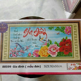 Tranh đính đá gia đình Hạnh Phúc Bình Yên>88599