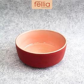 Tô sứ đá hoa Fellia đựng thức ăn họa tiết đá hoa cương sáng tạo _FEL20010