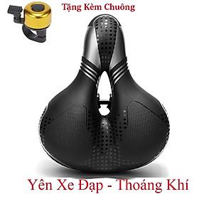 Yên xe đạp thể thao , Carbon siêu êm , Chính hãng Shengxin , da PU cao cấp - Tặng kèm chuông