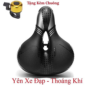 Yên xe đạp thể thao , Carbon siêu êm - Màu Bạc , Chính hãng Shengxin , da PU cao cấp - Tặng kèm chuông