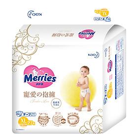 Tã/bỉm dán cao cấp Merries Tender Love size XL - 27 miếng (Cho bé 12 - 20kg)