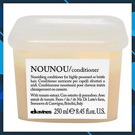Dầu xả siêu mượt cho tóc khô hư tổn do hóa chất uốn duỗi nhuộm - Davines Nounou Conditioner 250ml