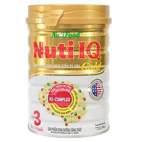 Sữa bột Nutifood Nuti IQ Gold Step 3 tăng cường DHA Phát triển trí não và thị giác  (900g) – cho trẻ từ 1 đến 2 tuổi