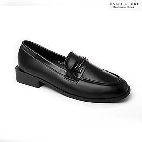 CLIP TỰ QUAY giày moca da mềm đế 3p Fullbox cao cấp nữ. Giày loafer mọi lười bệt không dây 3cm dễ phối đồ. Có sẵn Hà Nội