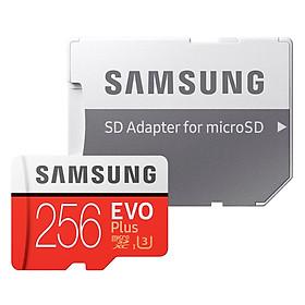 Thẻ Nhớ Micro SD Samsung Evo Plus 256GB U3 Class 10 - 100MB/s (Kèm Adapter) - Hàng Chính Hãng
