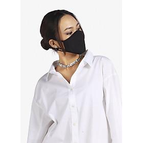 Khẩu trang thời trang cao cấp Soteria Black ST110, bộ lọc bụi mịn N95 BFE PFE > 99% đến 0.1 micromet