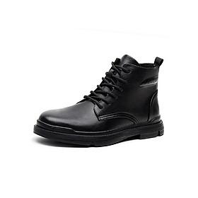 Giày boot (bốt) da bò, giày đốc cổ cao big size cỡ lớn cho nam chân to - GT086