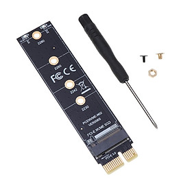 M.2 NVME SSD (M Key) 2280 2260 2242 2230 to PCI-e X1 Host Controller Expansion Card Adapter