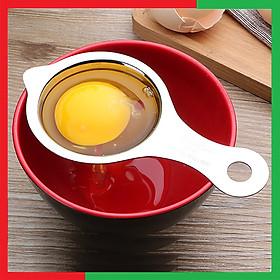 Cây dụng cụ lọc tách lòng đỏ lòng trắng trứng bằng inox 304 Cao cấp có tai gác thành bát tiện dụng,Kích thước 14x7cm,Màu inox nguyên bản sáng đẹp,Dễ lau rửa sau khi sử dụng - Dụng cụ lấy lòng đỏ trứng Inox 304 không gỉ