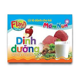 Combo 10 Hộp Flash card song ngữ Anh Việt - Lô tô cho trẻ mầm non - Chủ đề: Dinh dưỡng