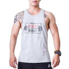 Áo Stringer Tập Gym Nam Fitme Cotton FAGMCT-XA (Xám)