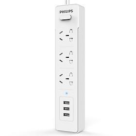 Ổ Cắm Điện 3 Lỗ 3 Chấu 3 Cổng USB Philips
