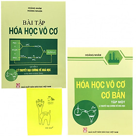 Combo Hóa Học Vô Cơ (sách và sách bài tập) tặng kèm sổ tay màu sắc