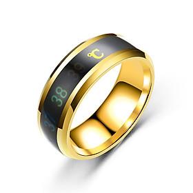 Combo Nhẫn Nam/Nữ CẢM BIẾN NHIỆT ĐỘ CƠ THỂ, Bản RỘNG, Mạnh mẽ, cá tính, Phong cách, Chất liệu hợp kim Titanium, Kèm túi Nhung đựng trang sức.