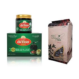 Bộ Cao Actiso 130g + Trà thảo dược dây leo 200g, Thực phẩm bảo vệ sức khỏe giúp Thanh nhiệt, mát gan, giải độc, an thần, bảo vệ dạ dày, hành tá tràng, Độc quyền của Traphaco Sapa