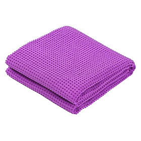 Non Slip Yoga Towel Fitness Gym Yoga Mat Towel Anti Skid Microfiber Cover Blanket 183cm x 61cm Soft Non-slip PVC For