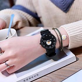 Đồng hồ nam nữ hoa cúc thời trang dây dù cực đẹp sang trọng sành điệu ZO105