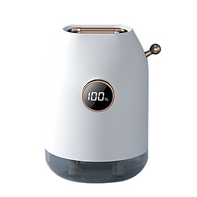 Dual Spray Nozzle Aroma Diffuser Humidifier 3 Levels Adjustable Mist Modes with B-attery Cell Volume Display 500ML Big