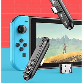 Thiết Bị Phát Tín Hiệu Bluetooth Không Dây Đầu Type-C USB Cho Nintendo Switch & Lite, PS4, PC, Điện Thoại