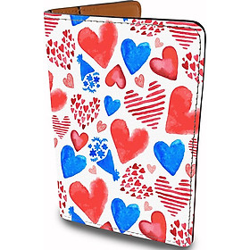 Bao Da Hộ Chiếu Du Lịch Và Thẻ Phụ Kiện Thời Trang Hoạ Tiết TRÁI TIM - HEART Cute - Passport Cover Holder - Ví Passport Thiết Kế Đa Năng - Tiện Lợi - PPT169