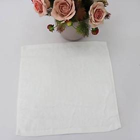 Combo 5 Khăn Làm Nail Cotton Nam Phong 34*34cm - màu Trắng
