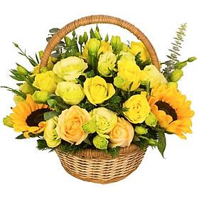 Giỏ hoa tươi - Mặt Trời Ấm Áp 4001