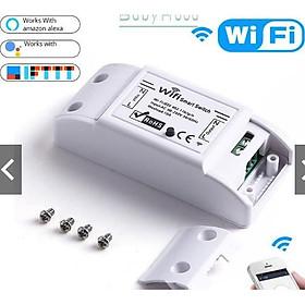 Công Tắc Thông Minh Wifi - Wifi Smart Switch, Làm việc với Ewelink, Điểu Khiển Thiết Bị Từ Xa Bằng Điện Thoại
