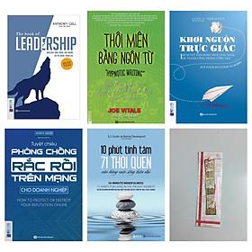 Combo Để trở thành người cầm lái cuộc đời:The Book Of Leadership + Thôi miên bằng ngôn từ +Khơi nguồn trực giác + Tuyệt chiêu phòng chống rắc rối trên mạng(tặng cuốn 10 phút tĩnh tâm kèm bookmark kim loại)