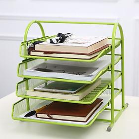 Dụng cụ văn phòng, giá để hồ sơ tài liệu,sách vở đa năng 4 tầng khung kim loại chắc chắn MẪU MỚI Y30 - giao màu ngẫu nhiên