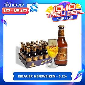 Thùng Bia Thầy Tu Eibauer Hefeweizen - Bia Lúa Mì Nhập Khẩu Đức (250ml x 20 Chai)