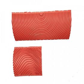 Dụng Cụ Sơn Tường Giả Vân Gỗ (2 Cái) (3 Inch) (6 Inch)