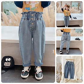 QJ43Size90-140 (9-30kg)Quần jean bé gáiThời trang trẻ Em hàng quảng châu