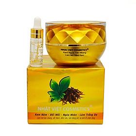 Kem nám - Đồi mồi - Ngừa nhăn - Làm trắng da 25g - Có serum - Nhật Việt Trà Xanh