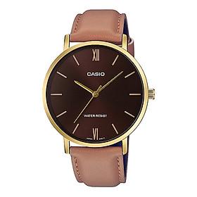Đồng hồ nam dây da Casio Standard chính hãng MTP-VT01GL-5BUDF