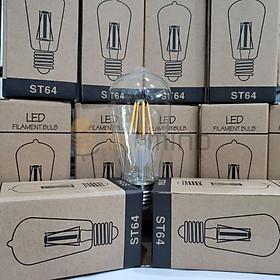 Combo 10 bóng đèn dây tóc Edison ST64 B250 4W Tiết kiệm điện | Ánh sáng vàng | Sử dụng chung với Đèn trang trí thả trần, đèn thả, đèn tường, dây đui đèn