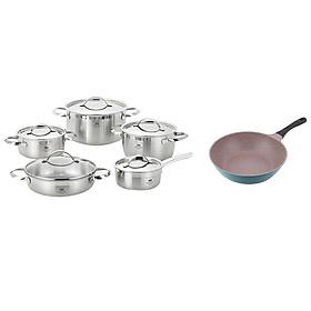 Bộ Nồi Bếp Từ Cao Cấp ELO Premium Zurich 5 Chiếc - Tặng 1 Chảo ILO Hàn Quốc Ceramic