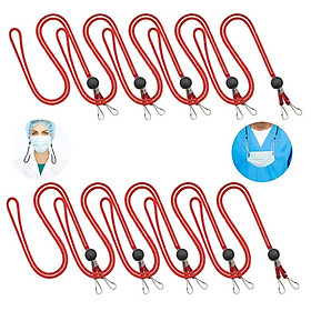 10Pcs Adjustable Face Mask Lanyard Strap, Convenient Safety Mask Holder & Hanger - Comfortable Around The Neck & Ear Fits any Face Cover Glasses