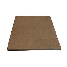 Đệm vuông ngồi bệt, ngồi thiền ruột mút 54cm x 54cm vỏ kaki màu rêu vàng